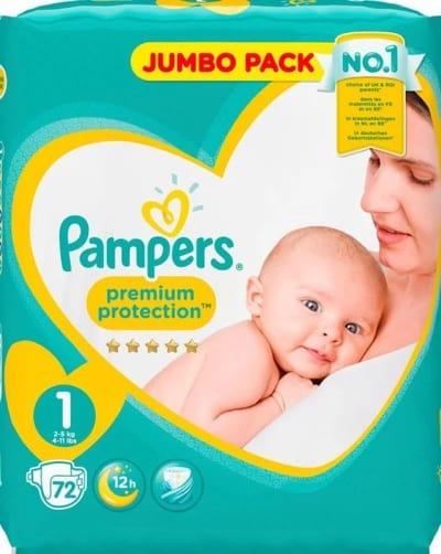Bästa blöjorna från Pampers, new baby.